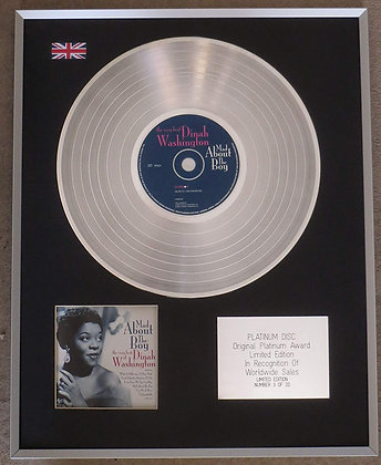 DINAH WASHINGTON - Limited Edition CD Platinum LP Disc - MAD ABOUT THE BOY