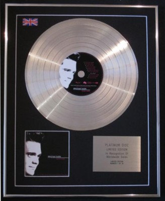MICHAEL BUBLE' - Ltd CD Platinum Disc- TOTALLY BUBLE'