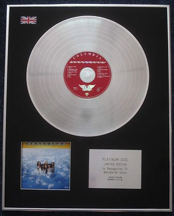 AEROSMITH - Limited Edition CD Platinum LP Disc - 'AEROSMITH' (1973 Album)
