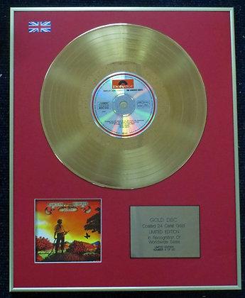 Barclay James Harvest - 24 Carat Gold Coated LP Disc -Time Honoured Ghosts
