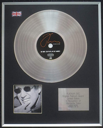 Adriano Celentano - Limited Edition CD Platinum LP Disc - Io Non So Parlar d'Amo