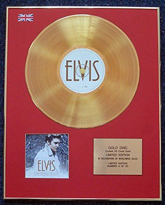Elvis Presley - CD 24 Carat Gold Coated LP Disc - Christmas Peace
