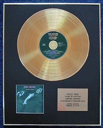 The Smiths - Limited Edition CD 24 Carat Gold Coated LP Disc - The Queen Is Dead