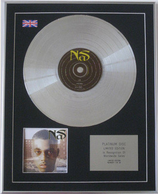 NAS - Limited Edition CD Platinum Disc - IT WAS WRITTEN