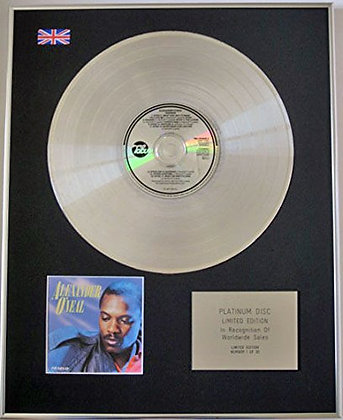 ALEXANDER O'NEAL - Limited CD Platinum Disc - HEARSAY