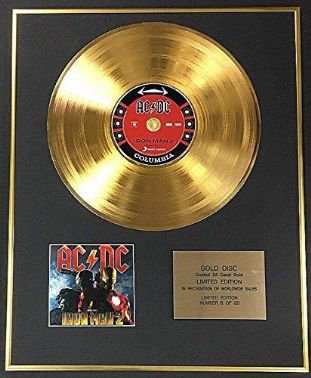 ACDC - Exclusive Limited Edition 24 Carat Gold Disc - Black Ice