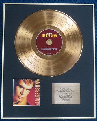 NIK KERSHAW - CD 24 Carat Gold Coated LP Disc - THE ESSENTIAL NIK KERSHAW