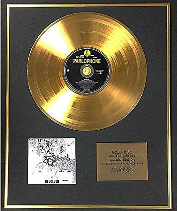 The Beatles - Exclusive Limited Edition 24 Carat Gold Disc - Revolver