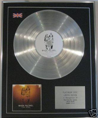 SNOW PATROL  -  CD Platinum Disc - FINAL STRAW