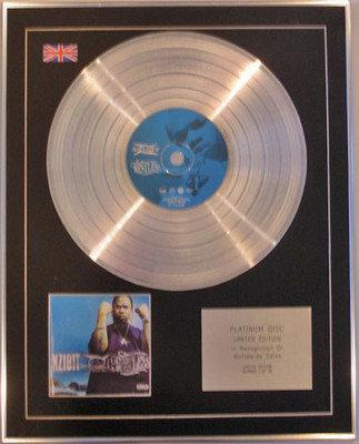 XZIBIT  - Limited Edition CD Platinum Disc - RESTLESS