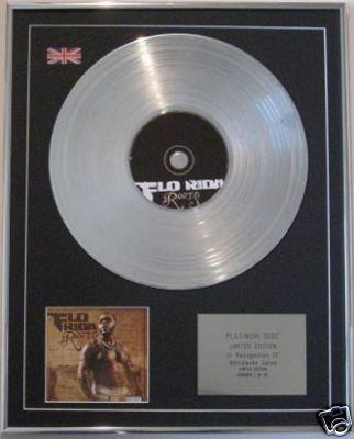 FLO RIDER - CD Platinum Disc- ROOTS