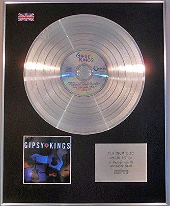 GIPSY KINGS - Limited Edition CD Platinum Disc - GIPSY KINGS