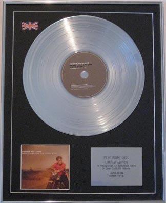 ROBBIE WILLIAMS  CD Platinum Disc -REALITY KILLED VIDEO