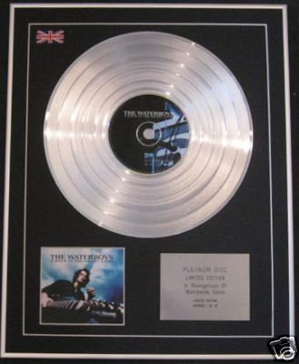 WATERBOYS-Ltd CD Platinum Disc-A ROCK IN THE WEARY LAND
