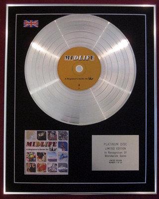 BLUR - CD Platinum Disc - MIDLIFE  A Beginners Guide To Blur