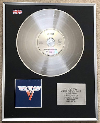 VAN HALEN – Limited Edition CD Platinum Disc – VAN HALEN 11