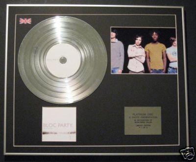 BLOC PARTY  - CD Platinum Disc+Photo - SILENT ALARM