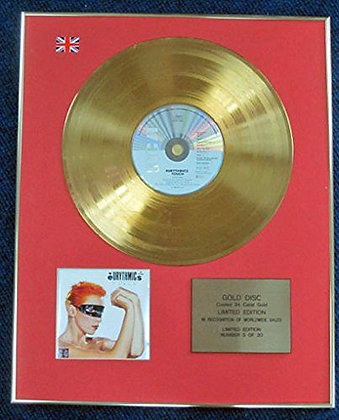 Eurythmics - Limited Edition CD 24 Carat Gold Coated LP Disc - Touch