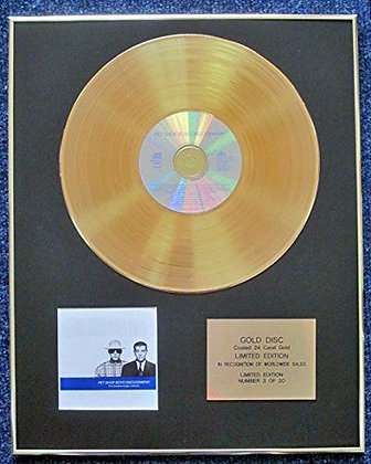 Pet Shop Boys - LTD Edition CD 24 Carat Gold Coated LP Disc -Discography