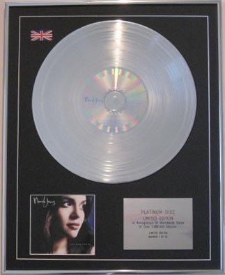 NORAH JONES - CD Platinum Disc- COME AWAY WITH ME