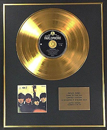 The Beatles - Exclusive Limited Edition 24 Carat Gold Disc - Beatles For Sale