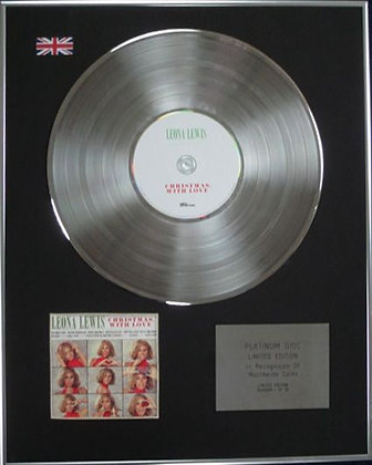 LEONA LEWIS - Limited Edition CD Platinum Disc - CHRISTMAS WITH LOVE