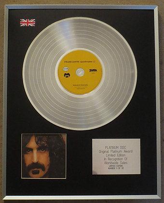 Frank Zappa - Limited Edition CD Platinum LP Disc - Apostrophe (')