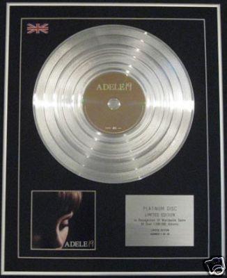 ADELE - Ltd Edition CD Platinum Disc - 19