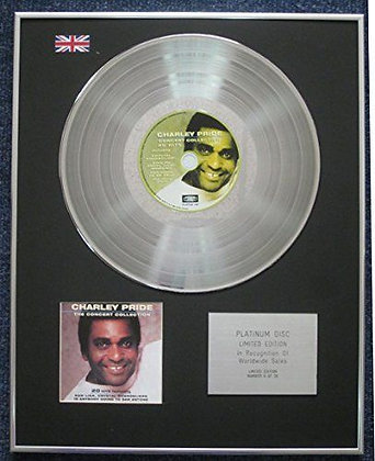 Charley Pride - Limited Edition CD Platinum LP Disc - The Concert Collection