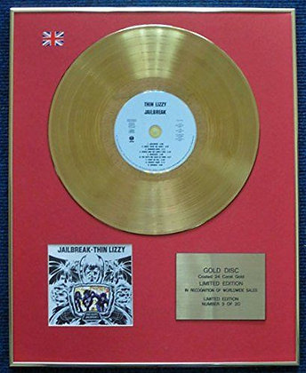 Thin Lizzy - Limited Edition CD 24 Carat Gold Coated LP Disc - Jailbreak