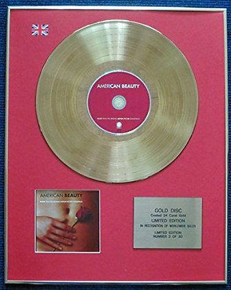 American Beauty - Limited Edition CD 24 Carat Gold Coated LP Disc - Soundtrack