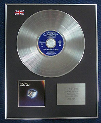 Chris Rea - Limited Edition CD Platinum LP Disc - The road to hell