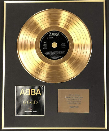 Abba - Exclusive Limited Edition 24 Carat Gold Disc - Gold