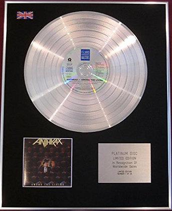 ANTHRAX - CD Platinum Disc - AMONG THE LIVING