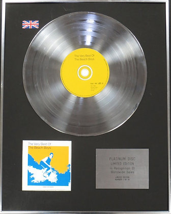 BEACH BOYS - Limited Edition CD Platinum Disc - THE VERY BEST OF