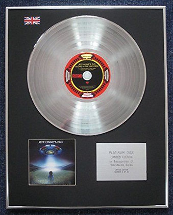 Jeff Lynn's ELO - Limited Edition CD Platinum LP Disc - Alone in the Universe