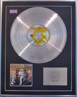 Twisted Sister  -  Limited Edition  Platinum Disc  - The Best Of