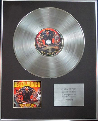FIVE FINGER DEATH PUNCH - Limited Edition CD Platinum Disc - GOT YOUR SIX