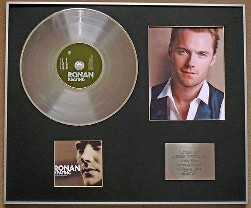 RONAN KEATING - Platinum Disc CD Single + Photo - WHEN YOU SAY NOTHING AT ALL