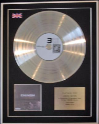 EMINEM - CD Platinum Disc -  THE MARSHALL MATHERS