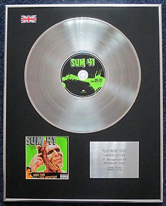 Sum 41 - Limited Edition CD Platinum LP Disc - Does This Look Infected?