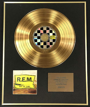 R.E.M - Exclusive Limited Edition 24 Carat Gold Disc - Out Of Time