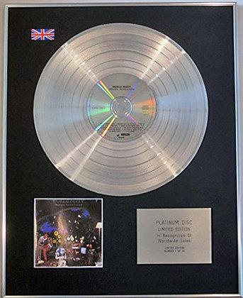 WORLD PARTY - CD Platinum Disc - PRIVATE REVOLUTION
