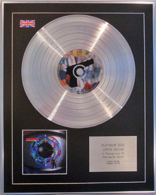 THUNDER - Limited Edition CD Platinum Disc - BEHIND CLOSED DOORS