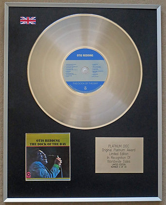 OTIS REDDING – Limited Edition CD Platinum Disc – THE DOCK OF THE BAY