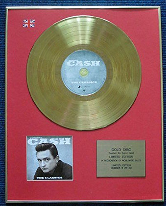 Johnny Cash - Limited Edition CD 24 Carat Gold Coated LP Disc - The Classics