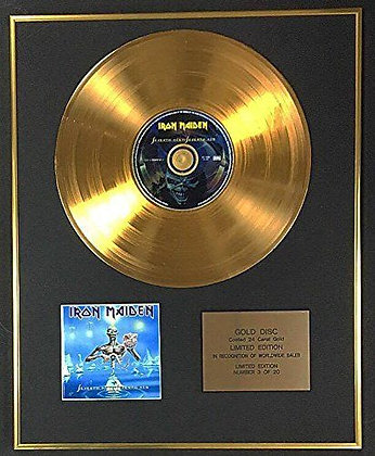 Iron Maiden - Exclusive Limited Edition 24 Carat Gold Disc - Seventh Son…