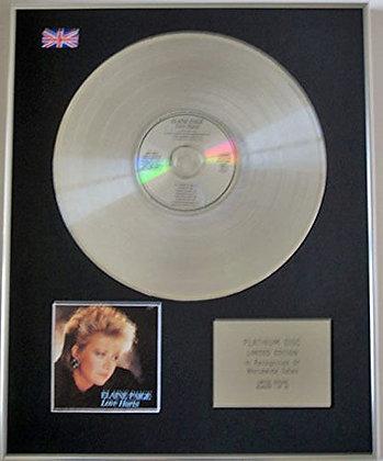 ELAINE PAIGE - Ltd Edition CD Platinum Disc - LOVE HURTS