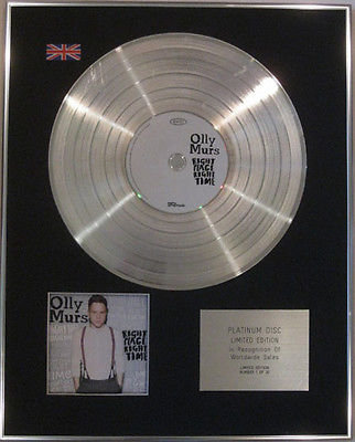 OLLY MURS  - Limited Edition CD  Platinum Disc - RIGHT PLACE RIGHT TIME