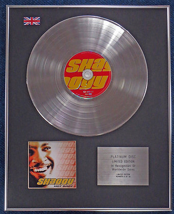 Shaggy - Limited Edition CD Platinum LP Disc - Hot Shot